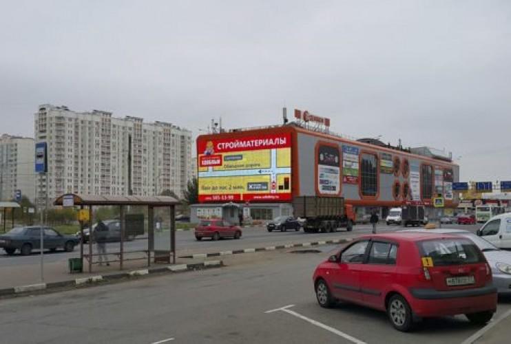 Медиафасад на Симферопольском шоссе в Новой Москве